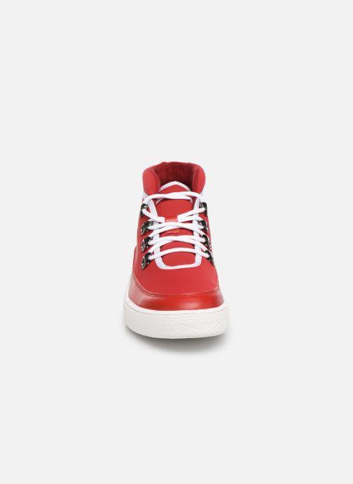 Baskets Aigle Skilon Mid W Rouge vue portées chaussures