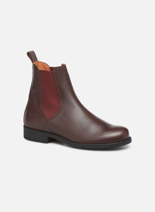 Bottines et boots Aigle Caours W Marron vue détail/paire