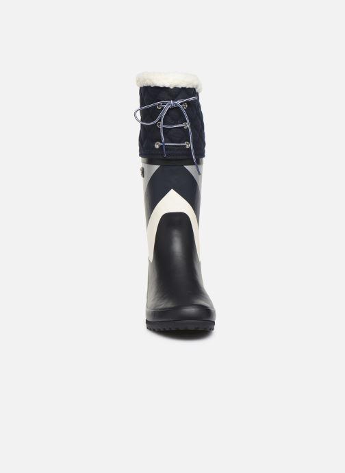 Bottes Aigle Polka Giboulee Print Bleu vue portées chaussures