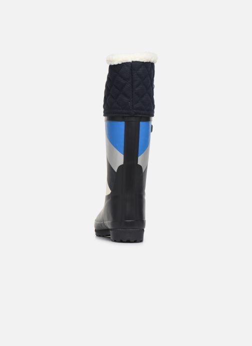 Bottes Aigle Polka Giboulee Print Bleu vue droite