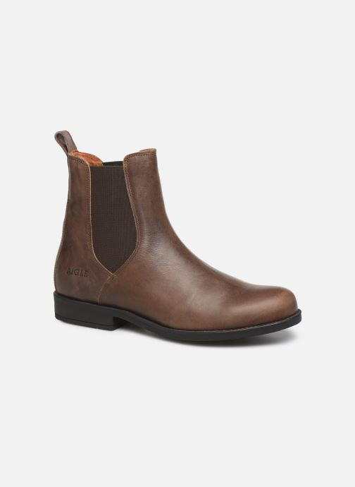 Ankle boots Aigle Caours Brown detailed view/ Pair view