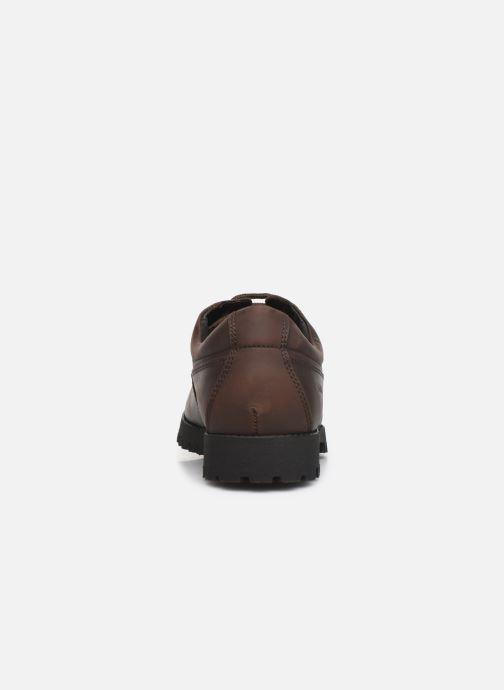 Zapatos con cordones Aigle Galego 2 Marrón vista lateral derecha