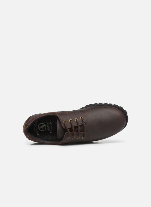 Zapatos con cordones Aigle Galego 2 Marrón vista lateral izquierda