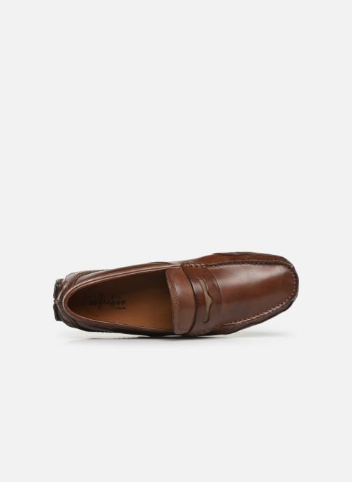 Loafers Clarks Ashmont Way Brown view from the left