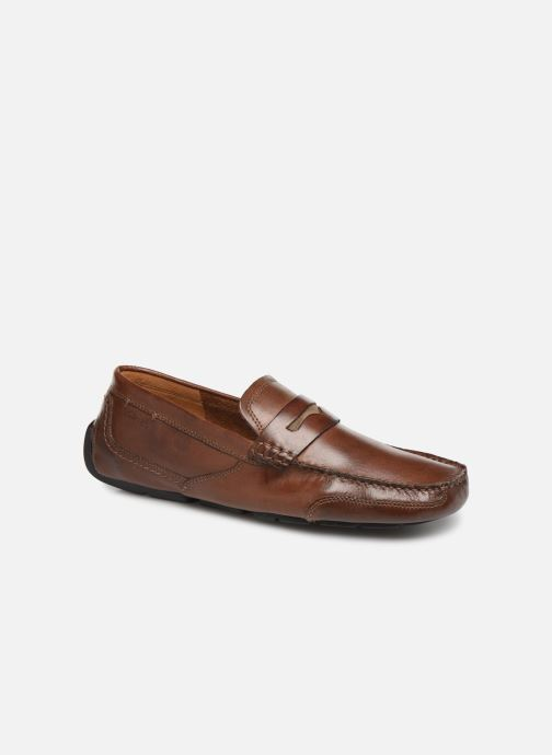 Loafers Clarks Ashmont Way Brown detailed view/ Pair view