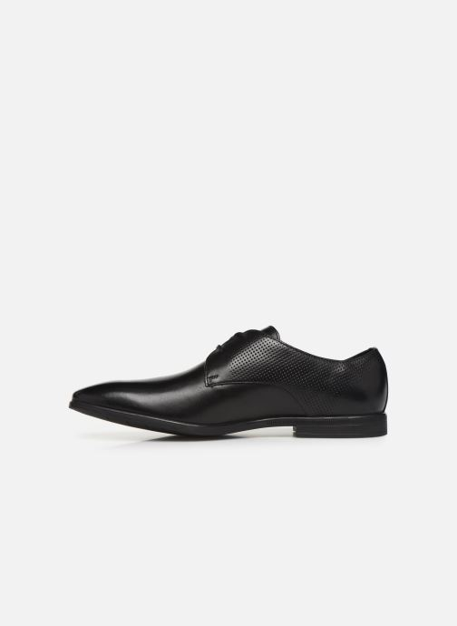 Lace-up shoes Clarks Bampton Walk Black front view