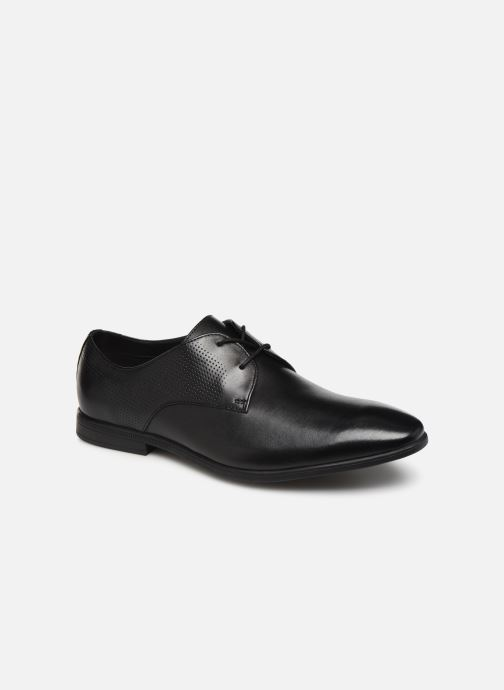 Lace-up shoes Clarks Bampton Walk Black detailed view/ Pair view
