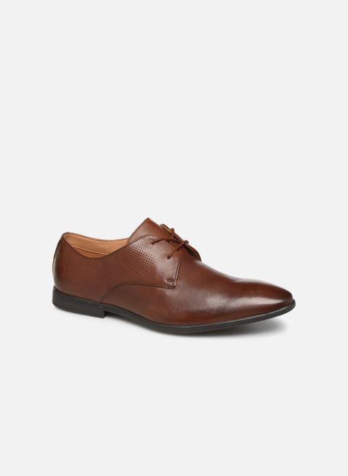 Snøresko Clarks Bampton Walk Brun detaljeret billede af skoene