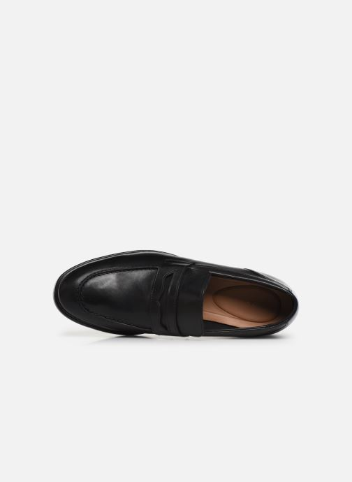 Mocasines Clarks Banbury Step Negro vista lateral izquierda