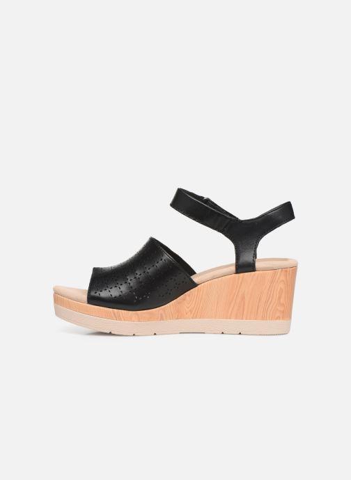 Sandales et nu-pieds Clarks Cammy Glory Noir vue face