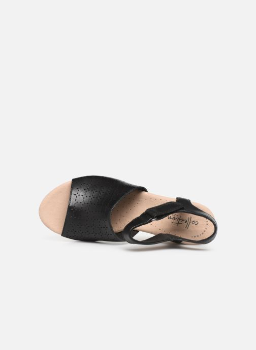 Sandals Clarks Cammy Glory Black view from the left