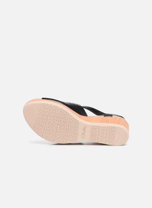 Sandales et nu-pieds Clarks Cammy Glory Noir vue haut