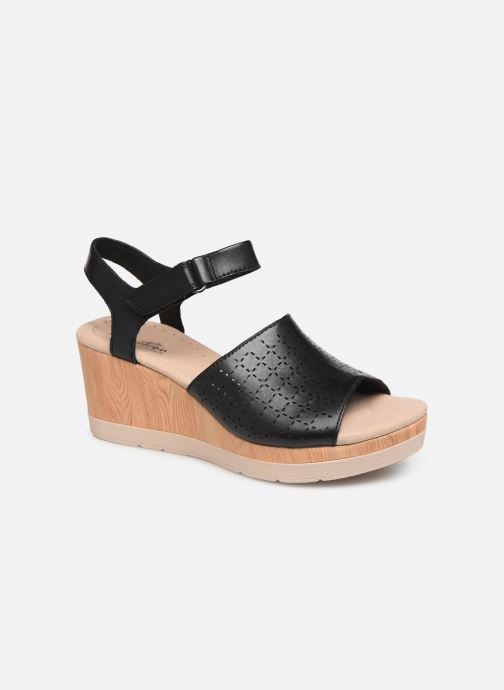 Sandals Clarks Cammy Glory Black detailed view/ Pair view