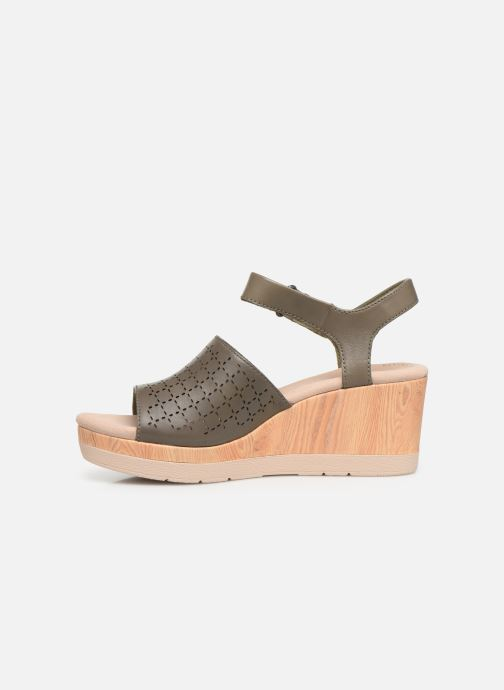 Sandals Clarks Cammy Glory Green front view