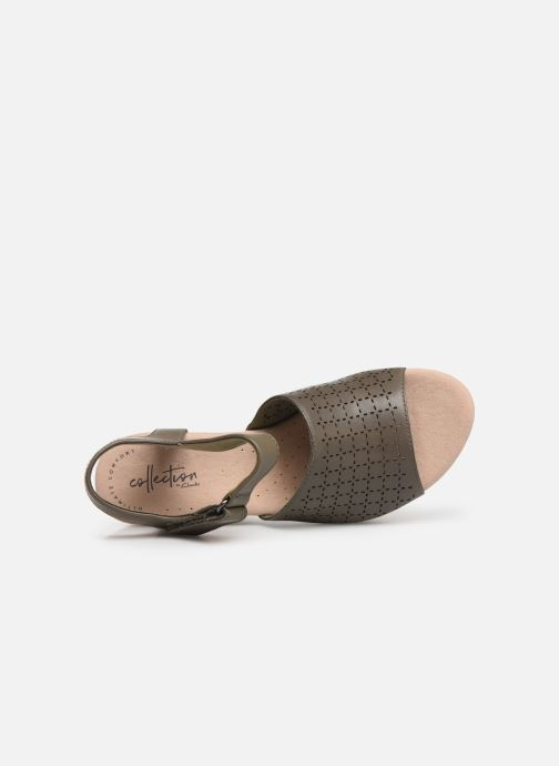 Sandals Clarks Cammy Glory Green view from the left