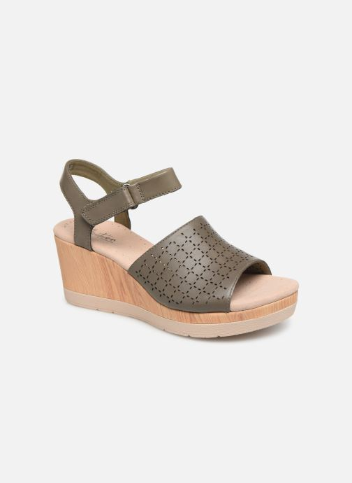 Sandals Clarks Cammy Glory Green detailed view/ Pair view