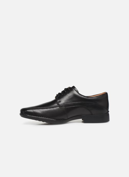 Lace-up shoes Clarks Francis Air Black front view