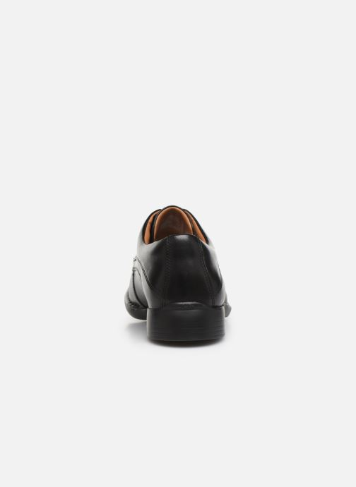 Lace-up shoes Clarks Francis Air Black view from the right