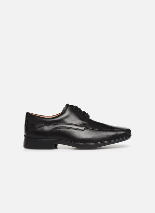 Lace-up shoes Clarks Francis Air Black back view