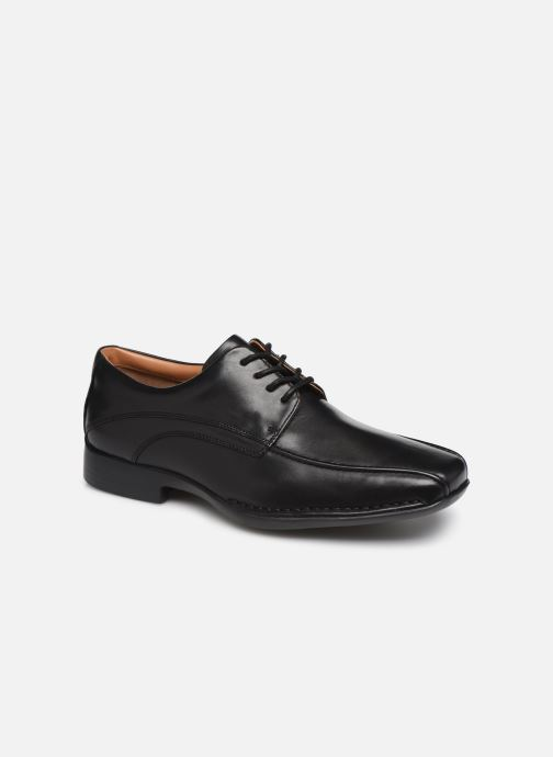 Lace-up shoes Clarks Francis Air Black detailed view/ Pair view
