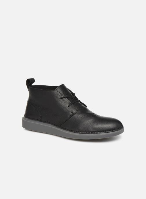 Snøresko Clarks Hale Lo Sort detaljeret billede af skoene