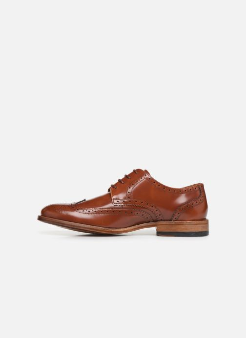 Lace-up shoes Clarks James Wing Brown front view