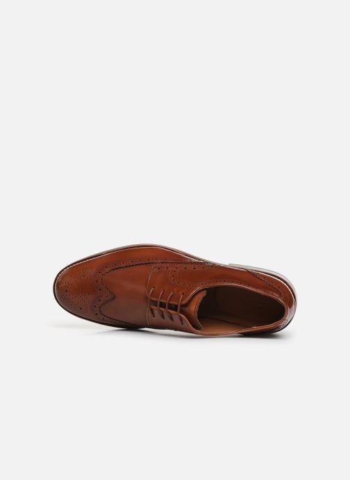 Chaussures à lacets Clarks James Wing Marron vue gauche