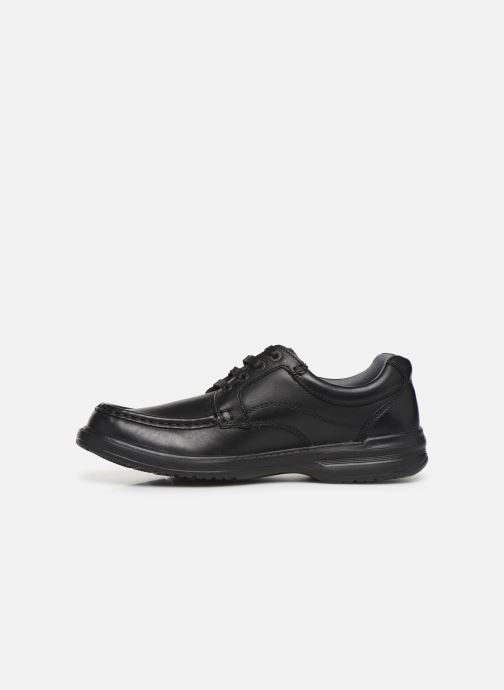 Lace-up shoes Clarks Keeler Walk Black front view
