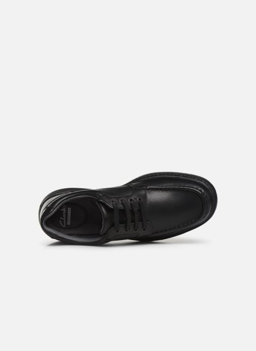 Lace-up shoes Clarks Keeler Walk Black view from the left