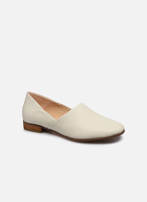 Mocassins Clarks Pure Tone Blanc vue détail/paire