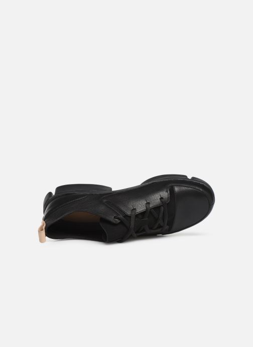Trainers Clarks Tri Turn Black view from the left