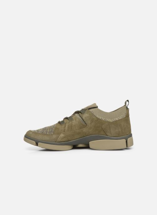 Trainers Clarks Tri Verve Green front view