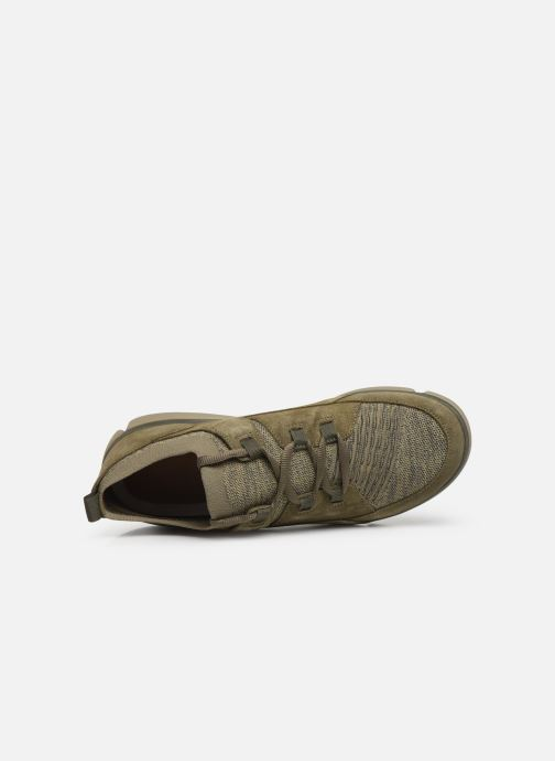 Trainers Clarks Tri Verve Green view from the left