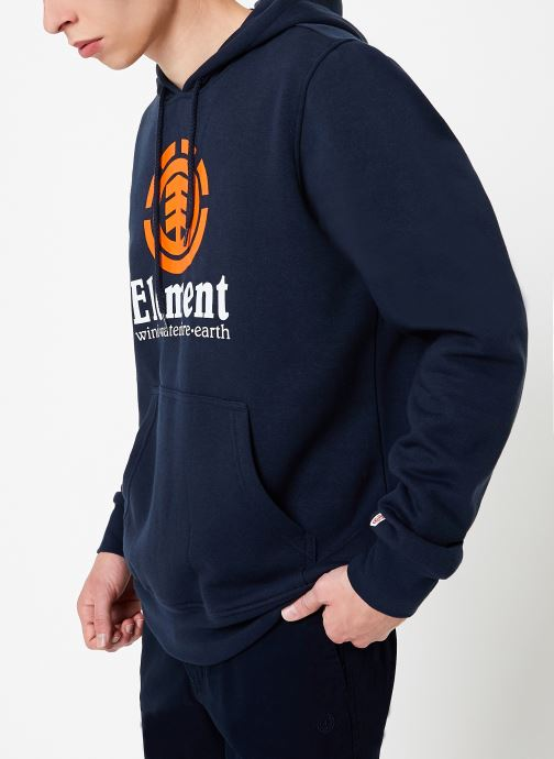 Vêtements Element Vertical ho C Bleu vue droite