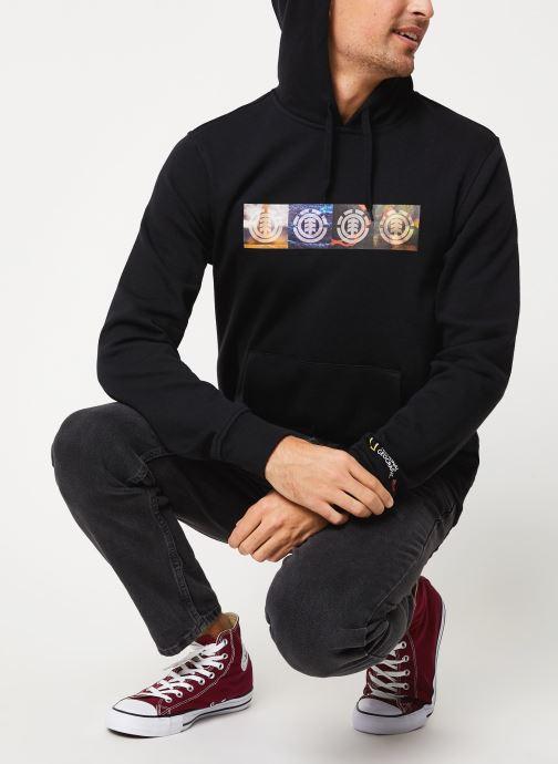 Vêtements Element Horizontal Seasons Hood C Noir vue bas / vue portée sac
