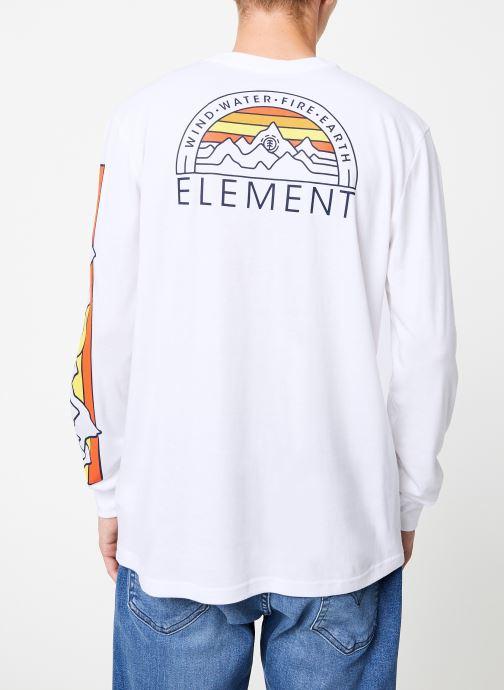 Vêtements Element Odyssey ls C Blanc vue portées chaussures