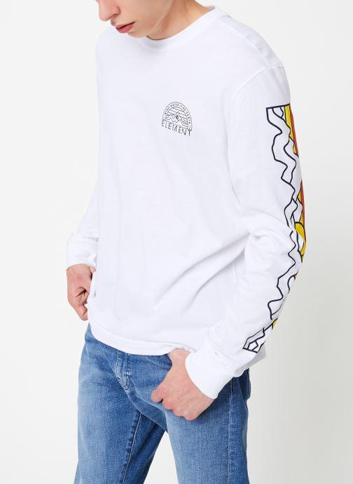 Vêtements Element Odyssey ls C Blanc vue droite