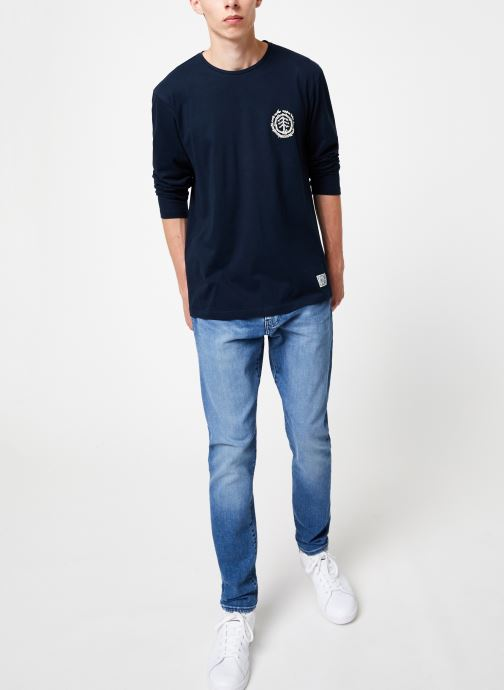 Vêtements Element Too Late Logo ls C Bleu vue bas / vue portée sac
