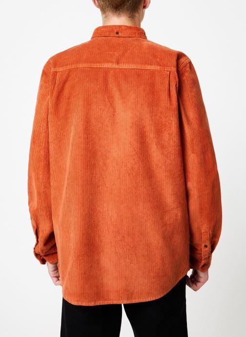 Vêtements Element Lumber Cord ls C Orange vue portées chaussures