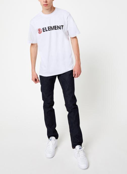 Vêtements Element Blazin ss C Blanc vue bas / vue portée sac
