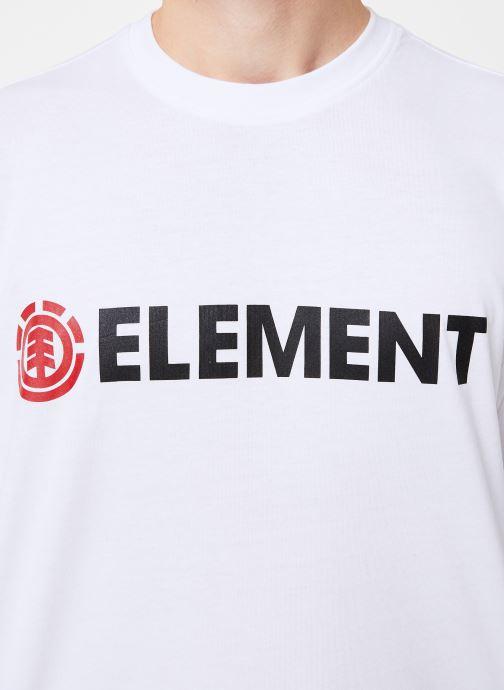 Vêtements Element Blazin ss C Blanc vue face