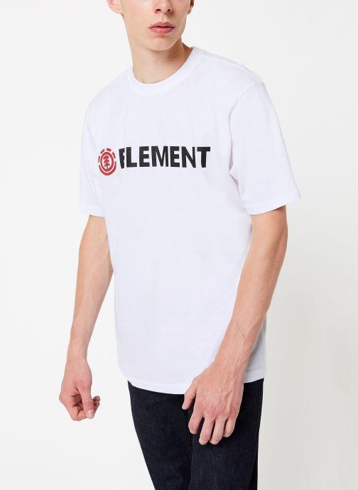 Vêtements Element Blazin ss C Blanc vue droite