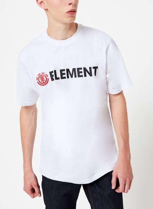 Vêtements Element Blazin ss C Blanc vue détail/paire