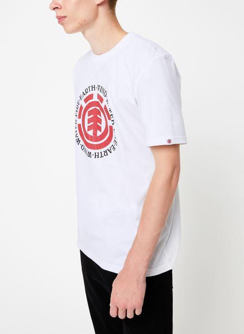 Vêtements Element Seal ss C Blanc vue droite