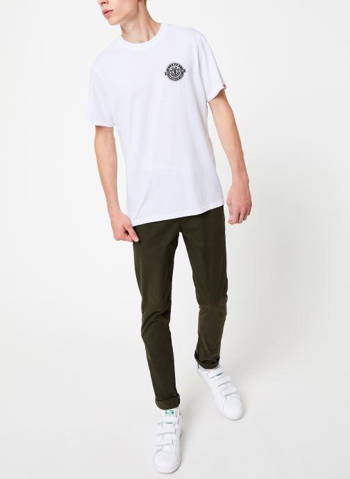 Vêtements Element Medallian ss C Blanc vue bas / vue portée sac