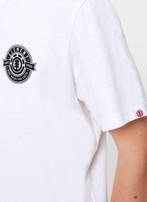 Vêtements Element Medallian ss C Blanc vue face