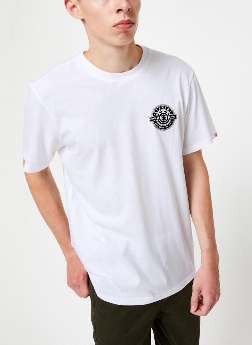 Vêtements Element Medallian ss C Blanc vue droite