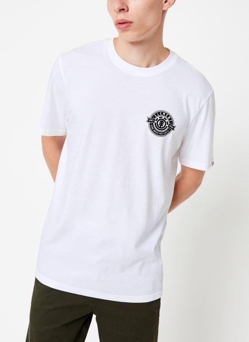 Vêtements Element Medallian ss C Blanc vue détail/paire