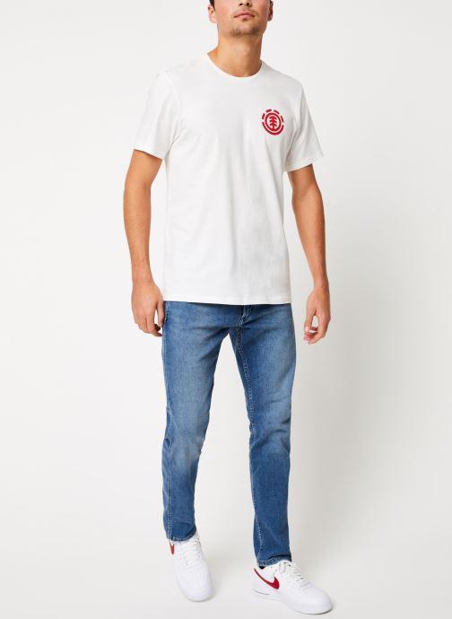 Vêtements Element Unison ss C Blanc vue bas / vue portée sac