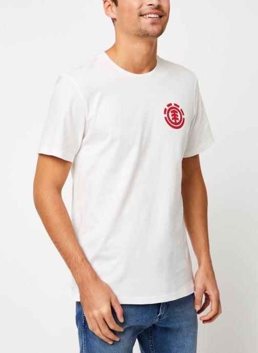 Vêtements Element Unison ss C Blanc vue droite